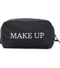 off-white make up print pouch - black