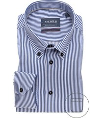 ledub shirt blauw wit gestreept modern fit