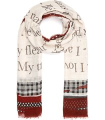 'love you' cashmere blend scarf