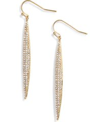 women's vince camuto crystal pave linear drop earrings