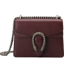 gucci mini leather shoulder bag - burgundy
