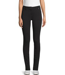 eileen fisher women's tencel ponte skinny pants - black - size 18