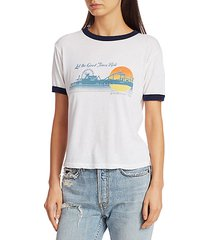 let the good times roll cotton ringer t-shirt