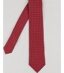 gravata masculina em jacquard com mini print vinho