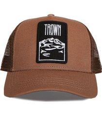 gorra marrón trown headware volcan tronador