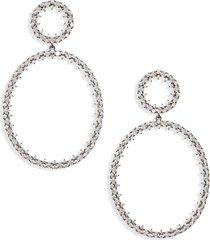 women's nadri tulle double drop earrings