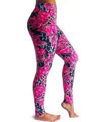 leggings deportivo tobillero estampado mujer fucsia tykhe jana
