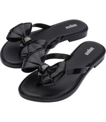 sandalia flip flop slim casual negro melissa