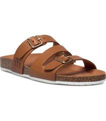 stb-cara criss cross l shoes summer shoes flat sandals brun shoe the bear
