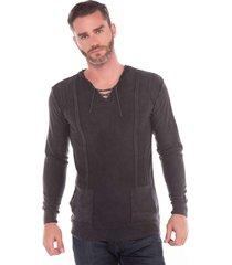 blusa fina algodão tricoport com capuz grafite