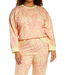 plus size women's bp. organic cotton sweatshirt, size 4x - pink