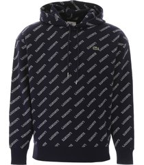 lacoste hoodie with logo all-over