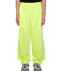 balenciaga pants in yellow polyester