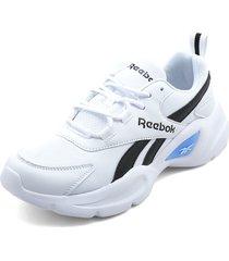 tenis lifestyle blanco-negro-azul reebok royal ec ride 4.0