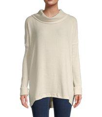 free people women's juicy cowlneck sweater - black - size s