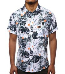 camisa camaleão urbano folhagem tropical masculina - masculino