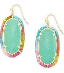 kendra scott 14k gold-plated semiprecious gemstone thread-wrapped drop earrings