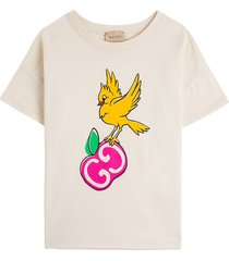 gucci jersey t-shirt with gg apple print