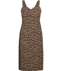 print bi-stretch sheath dress knälång klänning multi/mönstrad banana republic