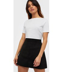 only onllinea faux suede bonded skirt cc minikjolar