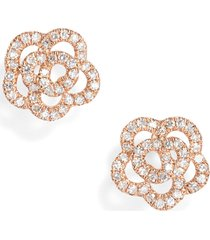 ef collection rose diamond stud earrings in rose gold at nordstrom