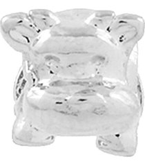 berloque narcizza semijoias hipopótamo bebê ródio
