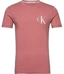 instit back pop logo t-shirts short-sleeved rosa calvin klein jeans