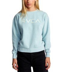 rvca printed fleece sweatshirt