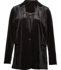 blazer classic plus button long sleeves blazers over d blazers svart zizzi