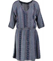 broadway soepel blauw jurkje met onderrok 3/4 mouw