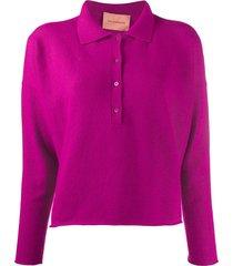 andamane eva polo sweater - pink