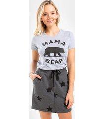 mckayla star skirt - dark grey