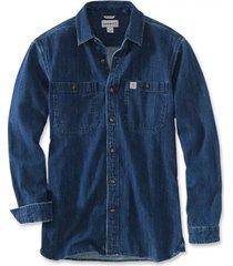 carhartt blouse men denim long sleeve tbd denim-m