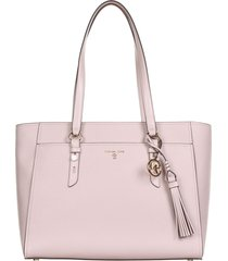 michael kors tote bag in soft pink leather