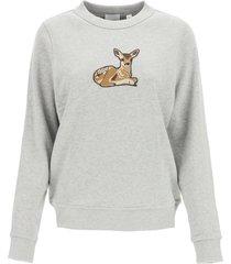 burberry fawn print sweatshirt