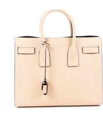 saint laurent sac de jour medium beige leather satchel bag beige sz: m