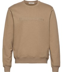 tana emb sweat-shirt tröja beige tiger of sweden jeans