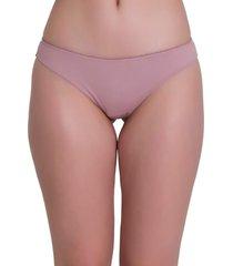 calcinha fio recco duplo de lycra comfort rosa - kanui