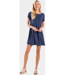 donelle button back dress - navy