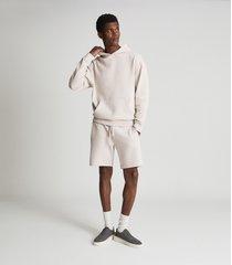 reiss alexander - oversized garment dye hoodie in off white, mens, size xxl