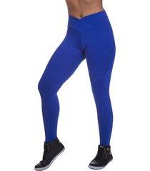 calça legging miss blessed premium transpassada azul