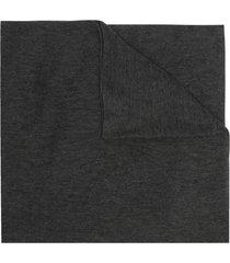botto giuseppe fine knit cashmere scarf - grey