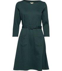 perry dogtooth jurk knielengte groen jumperfabriken