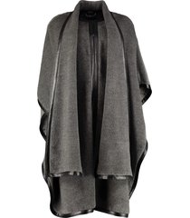alberta ferretti velour cape coat