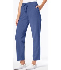 karen scott sport drawstring straight-leg pants, created for macy's