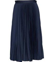 d1. preppy stripe pleated skirt knälång kjol blå gant