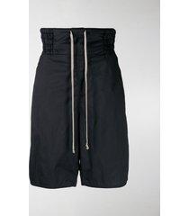rick owens drkshdw drop-crotch drawstring shorts