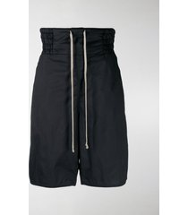 rick owens drkshdw drop-crotch drawstring shorts