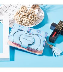 billetera mujeres- cartera monedero lindo monedero de-azul