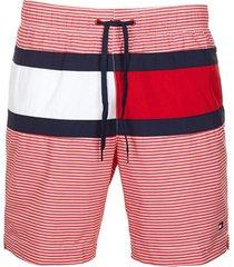 traje de baño horizontal striped flag t rojo/blanco tommy hilfiger